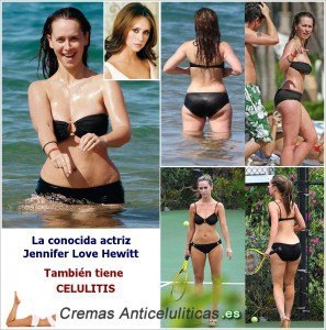 jennifer love hewitt en la playa con celulitis necesita crema anticelulitica