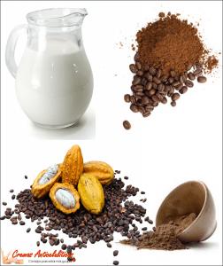 crema casera anticelulitica leche cacao y café